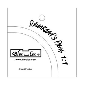 "Bloc Loc Drunkards Path 6""x6"" Acrylic Ruler 2 Pieces $29.99"