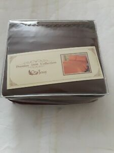 PREMIER 1800 COLLECTION KING SIZE SHEETS SET COTTON EGYPT TOUCH DELUXE BROWN