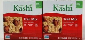 2 Boxes Kashi 7.4 Oz Trail Mix Whole Nut amp; Fruits 6 Count Chewy Granola Bars $16.99