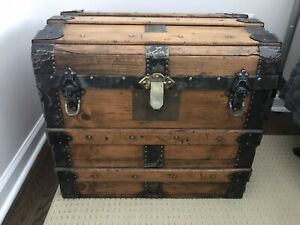 Antique Steamer Trunk Dome Top $167.00