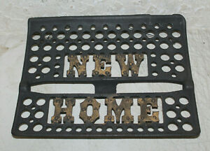 CAST IRON NEW HOME SEWING MACHINE FOOT PEDAL SIGN INDUSTRIAL AGE HOME DECOR $34.99
