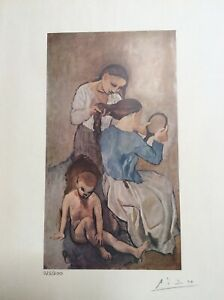 Pablo Picasso original hand pencil signed and hand numbered print with COA $260.00