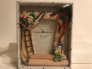 DEAR SANTA Kids Baby Resin Picture Frame by RAINBOW MOUNTAIN NEW IN BOX $11.99