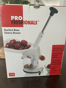 Profreshionals Cherry Pitter with Stone Catcher Container Pit Removal Tool New