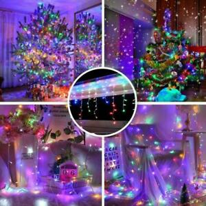 Waterproof Extendable Curtain Icicle Lights Fairy String Light Christmas Decor