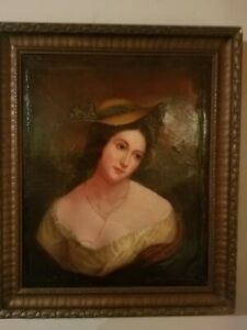 Beautiful Portrait Painting From The 1850s $800.00