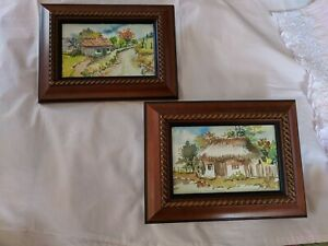 Original Watercolor Pair Signed and Framed 7 x 10 $24.99