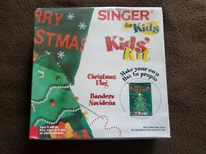 Singer for Kids Create Your Own Christmas Flag Kit Fun Sewing NEW Sealed Crafts $12.50
