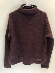 Sherpa Adventure Gear Yuden Pullover Sweater Womens Large Heather Burgundy