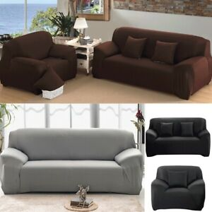 Stretch Chair Cover Couch Slipcover 1 2 3 People Sofa Loveseat Elastic Protector $22.49