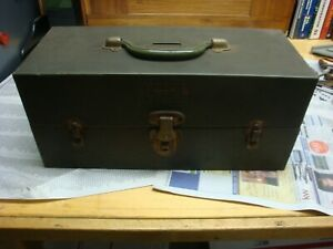 Kennedy Kits Vintage Tackle Box with 2 Divided Trays