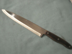 Vintage Interpur Japanese Chefs Knife 9quot; Blade Great Shape