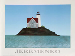 Theodore Jeremenko LIGHTHOUSE 1 Lithograph Poster Printer#x27;s Private Collection $39.99
