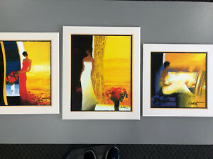 Three Emile Bellet Limited Edition Lithographs Matted And Backed $148.00