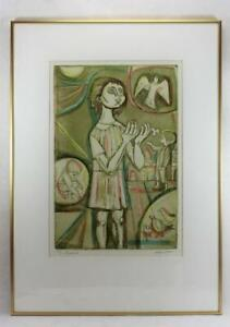 1969 Irving Amen quot;Pigeonsquot; Signed Etching Numbered 22 200 Framed $147.50
