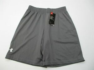 new UNDER ARMOUR Shorts Youth Size YLG HEATGEAR Breathable Loose Fit Gray $12.79