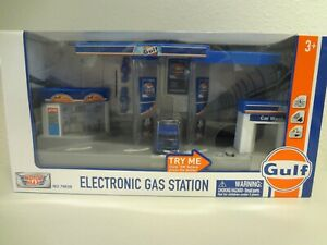 Motor Max GULF Racing Electronic Gas Station New in box $29.99