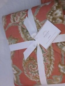 1 Pottery Barn Delany Quilted Floral Sham Standard Tera Cotta Reversible $28.50