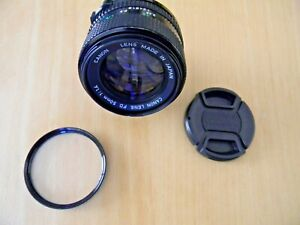 Canon Manual Focus Lens 50mm f 1.4 FD Mount For Canon AE 1 Program Excellent