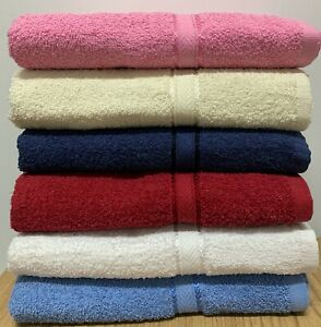 Springfield Linen 6 Pack Bath Towels Extra Absorbent 100% Cotton 27 x 54
