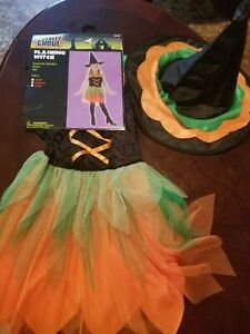 Totally Ghoul Girls Flashing Witch Halloween Costume Medium $5.25
