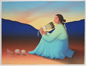 RC Gorman original signed and numbered lithograph 28 225 Native American $800.00
