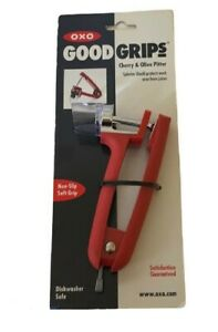 OXO Good Grips Cherry amp; Olive Pitter with Splatter Shield protects work areaRED $17.99