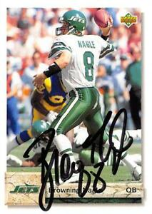 Browning Nagle autographed Football Card New York Jets 1992 Upper Deck #596 $14.00