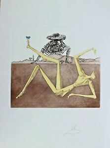 Dali Etching Hand Signed Numbered Don Quichotte Quixote Heart of Madness 1981 C $1295.00