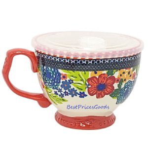 The Pioneer Woman Dazzling Dahlias Jumbo Cup Vented Lid 27oz Soup Bowl Coffee $15.49