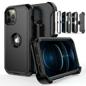 For iPhone 12 Pro 12 Mini 12 Pro Max Case CoverBelt Clip Fits Otterbox Defender