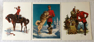 Lot of 25: Vintage Lithographs Northwest Paper Co reproductions of Mounties $19.00