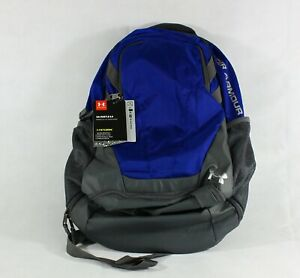 Under Armour UA Hustle 3.0 Backpack Water Resistant Blue Free Shipping $35.93