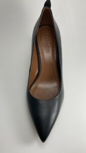 Coach Black Women's Shoes Size 10 Leather Black Brand New Heel Height 3