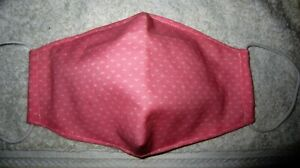 Cute Pink Design Handmade Fabric Mask Washable Face Cover Filter B2G1 FREE