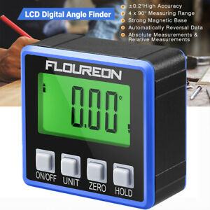 LCD Digital Angle Finder Level Box Protractor Measure Tool Gauge Inclinometer $16.99
