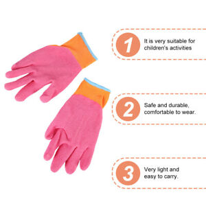 1 Pair Durable Portable Useful Practical Gardening Gloves for Children Toddler $7.74