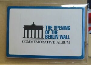 The Opening Of The Berlin Wall Commemorative Album Certified Stamp amp; 2 Coins $99.99