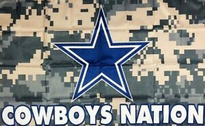 Dallas Cowboys Camo Man Cave NFL Football Flag 3x5 ft Sports Banner Garage New