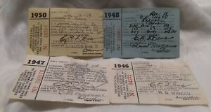 1946 47 48 50 Pennsylvania PA Fishing License