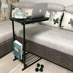 Micoe Sofa Side Table with Wheels Couch TableThat Slide Under for Home Office $51.99