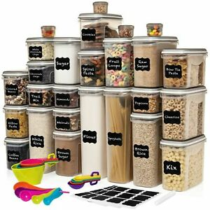 LARGEST Set of 52 Pc Food Storage Containers 26 Container Set Airtight $90 $59.99