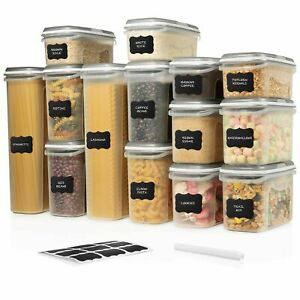 LARGE SET 28 pc Airtight Food Storage Containers w Lids 14 Container Set $59