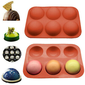 6 Cavity Half Ball Sphere Cake Silicone Molds Muffin Chocolate Baking Pan Mould $7.89
