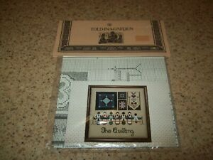 New THE QUILTING Told in a Garden c1986 Amish Counted Cross Stitch chart $2.99