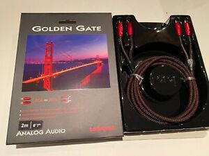 AudioQuest Golden Gate 2m. RCA to RCA Analog Audio Interconnect Cable NEW $75.00
