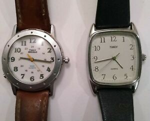 Set of Two Vintage Watches Timex Indiglo and Classic $12.95