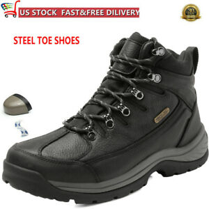 NORTIV 8 Men#x27;s Safety Shoes Steel Toe Work Boots Indestructible Waterproof Boots