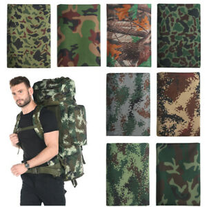 Digital Camo Fabric Army Camouflage Waterproof Outdoor For Tablecloth Diy Sewing $11.54