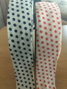 BIAS TAPE 1 1 4quot; WIDE POLYESTER LIGHTWEIGHT KNIT POLKA DOT BY THE ROLL $19.99